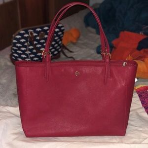 like new tory burch large red york tote